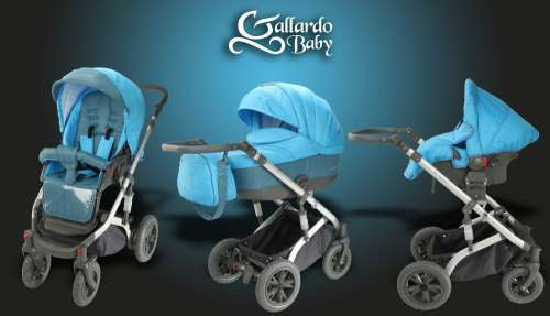 Gallardo Baby Premium #türkizkék #kék apró mintás