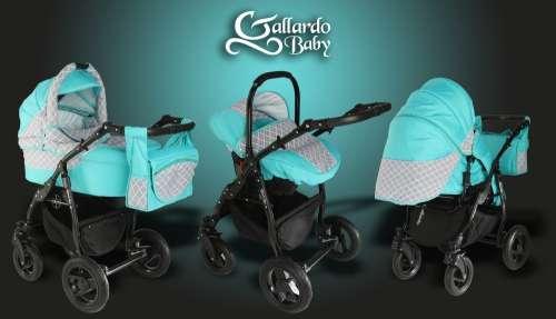 Gallardo Baby Black Lux #kék #rombusz mintás