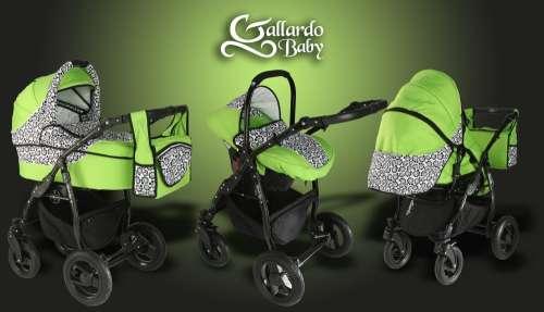 Gallardo Baby Black Lux #zöld #fekete #csiga mintás