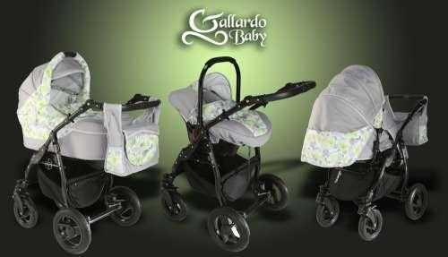 Gallardo Baby Black Lux #bézs #szürke #zöld #virág mintás