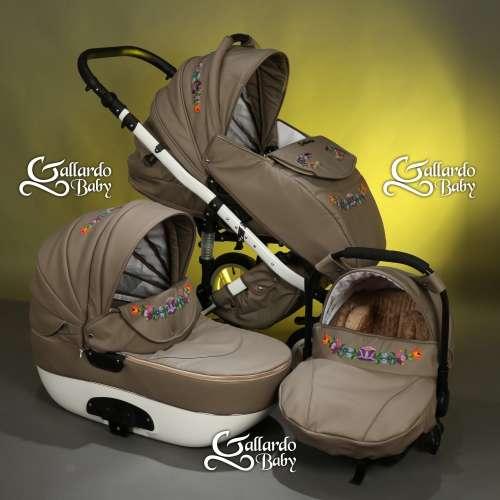 Gallardo Baby Unique #cappucino Eco-bőr #kézzel #hímzett szomorú #kalocsai mintával