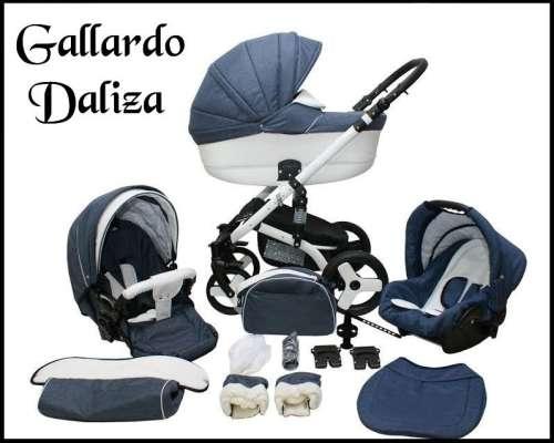 Gallardo Baby Daliza multifunkciós Babakocsi #szürke #fehér ECO #bőr