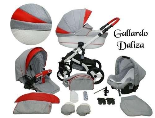Gallardo Baby Daliza multifunkciós Babakocsi #szürke #piros ECO #bőr