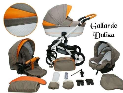 Gallardo Baby Daliza multifunkciós Babakocsi #bézs ##narancssárga ECO #bőr