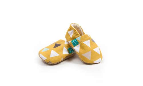 Funkidz Mustár háromszögek puhatalpú Cipő 18-24 hó