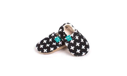 Funkidz Fekete-fehér kereszt puhatalpú cipő 3-9 hó