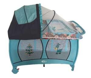 MamaKiddies VIP #kék (emelhető magasságú és ringatható) Utazóágy + Szúnyogháló + Ajándék 30233742