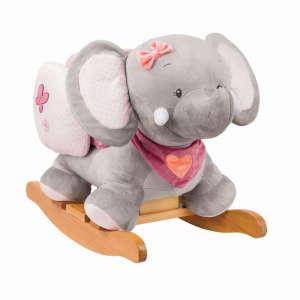 Nattou Hintázó állatka - Adele az elefánt #szürke-rózsaszín 30234049