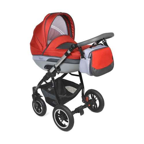 Dorjan Basic Comfort Leather VIP 3in1 multifunkciós Babakocsi  piros ... 9beb8e7e8a