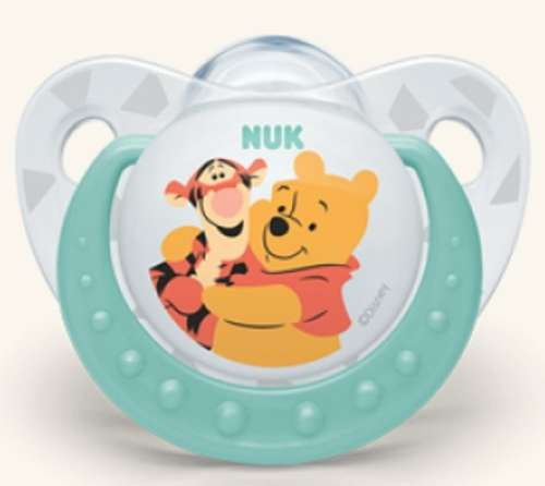 NUK Trendline Disney szilikon Altatócumi2-es méret 6-18hó+ - Micimackó & Tigris