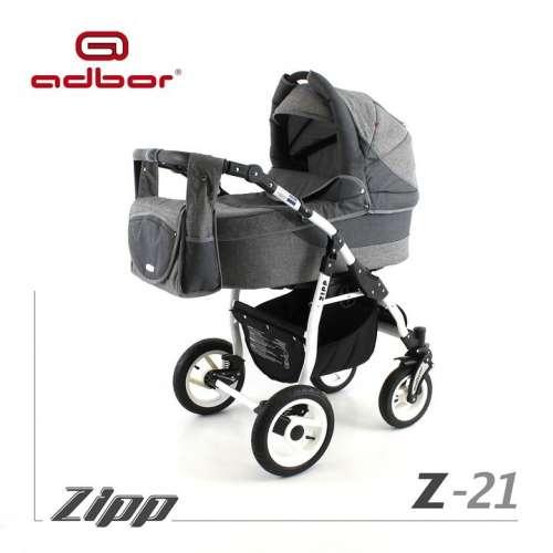 Adbor Zipp 3in1 multifunkciós Babakocsi #szürke-fekete