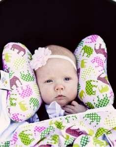 Pillangó alakú Nyakpárna - Elefánt #rózsaszín-zöld 30308441 Nyakpárna