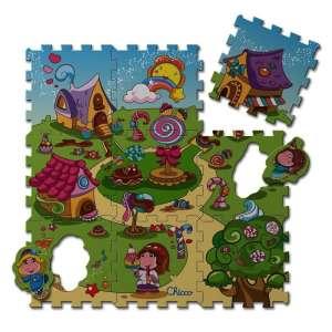 Chicco Candy Village Puzzle - mosható szőnyeg 9db-os 30307704 Szivacs puzzle