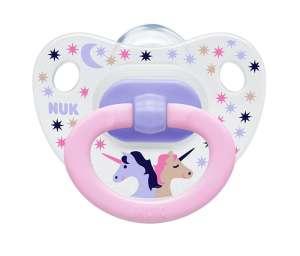 NUK Happy Days 6-18hó+ Játszócumi #rózsaszín-fehér 30312223 Cumi