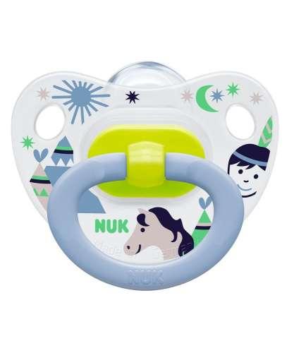 NUK Happy Days szilikon Játszócumi 2-es 6-18hó+ #kék-zöld