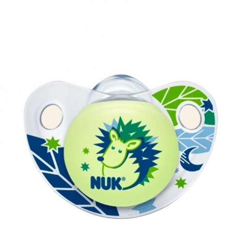 Nuk Night&Day szilikon világítós Altatócumi gyűrű nélkül 3-as 18-36hó+ #kék