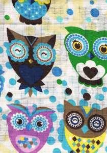Textil pelenka 1db - Színes bagoly 30313190 Textil pelenka