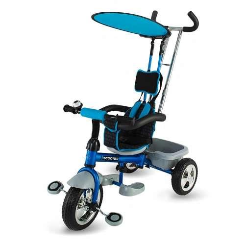 DHS Scooter Plus szülőkormányos Tricikli #kék