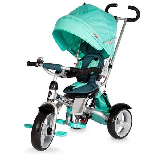 Coccolle Giro szülőkormányos Tricikli forgatható üléssel #zöld