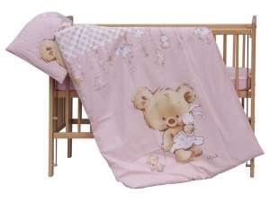 3 részes Ágynemű garnitúra - Mika maci  rózsaszín 46c88ba339