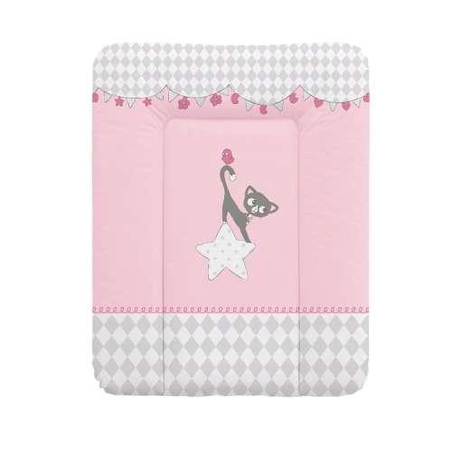 Puha Pelenkázó Lap 50x70cm #rózsaszín cica
