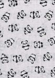 Textil pelenka 1db - Panda #szürke 30313351 Textil pelenka