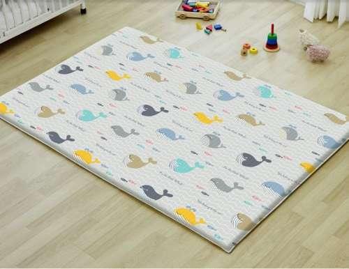 Parklon Premium Large Játszószőnyeg 190x130x1,2cm - Little Whale/Yellow Zigzag