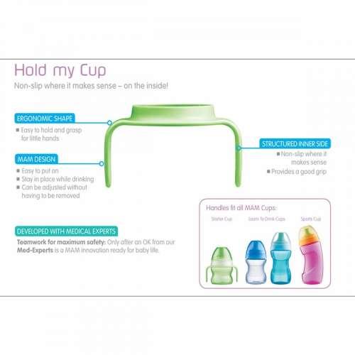 MAM Hold my Cup fogantyú 2db #rózsaszín