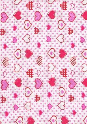 1db-os színes mintás Textil Pelenka #rózsaszín apró szívecske