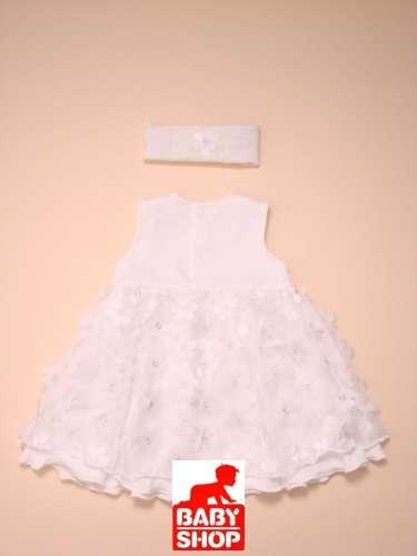 Keresztelő pamut ruha #fehér