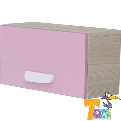 Todi Ice Cream felnyílós kisszekrény - woodline #krém-pink