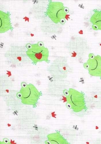 1db-os mintás Textil Pelenka - békakirály