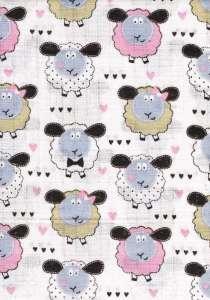 Textil pelenka 1db - Bárány #sárga-rózsaszín 30308112