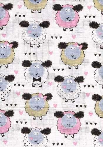 1db-os mintás Textil Pelenka báránykák
