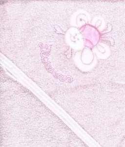 Trimex kapucnis frottír Fürdőlepedő - Virág 100x110cm #rózsaszín 30421960 Fürdőlepedő, törölköző, kifogó