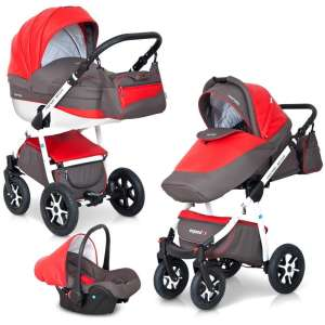 Expander Mondo Ecco 3in1 multifunkciós Babakocsi  szürke-piros 8ce01885c5