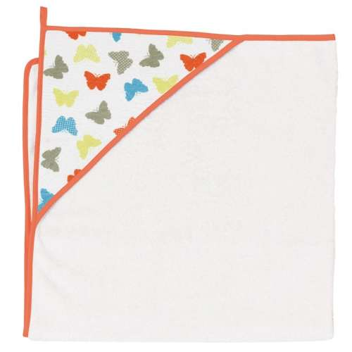 Ceba Baby kapucnis Fürdőlepedő 100x100cm #fehér pillangó
