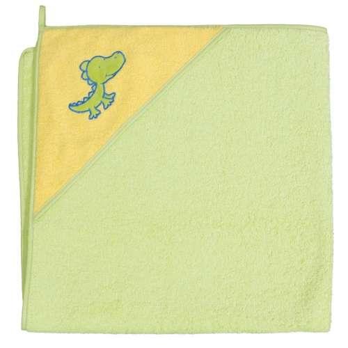 Ceba Baby kapucnis Fürdőlepedő 100x100cm #zöld krokodil