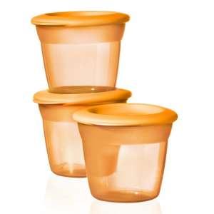 Tommee Tippee Essential Basic 3db Ételtároló tetővel #narancssárga 30305486