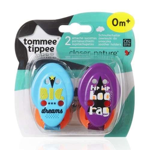 Tommee Tippee Closer To Nature Cumitartó Szalag 2db - neon