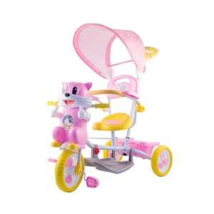 Szülőkormányos Tricikli #rózsaszín, sárga  30308216