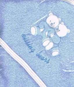 Trimex kapucnis frottír Fürdőlepedő - Macik 100x110cm #kék 30421955 Fürdőlepedő, törölköző, kifogó