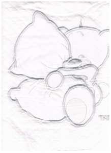 Pamut babapléd #fehér ölelő - maci 30800679 Pléd, takaró
