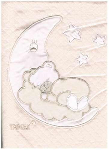 Pamut Babapléd - Macis #fehér-drapp