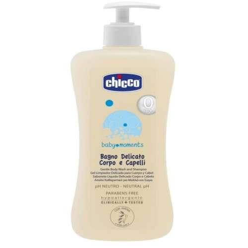 Chicco Baby Moments fürdető&sampon 500ml - pH semleges
