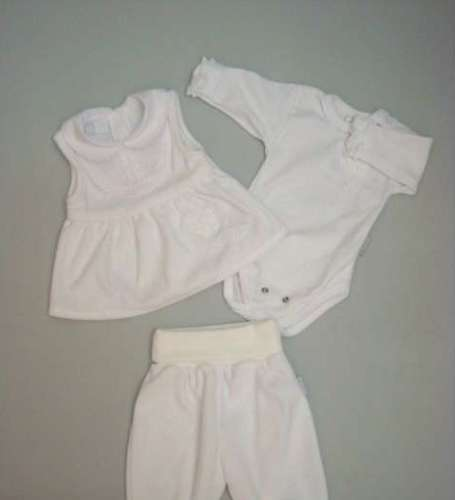 4d5e9b1e9e Trimex 3 részes lányka keresztelő ruha #fehér | Pepita.hu