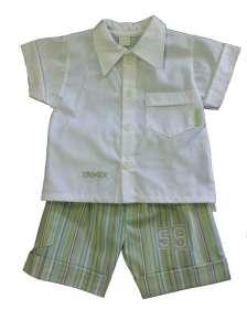 Keresztelő ruha fiús - rövid ujjú #fehér-zöld 30308391 Alkalmi és ünneplő ruha