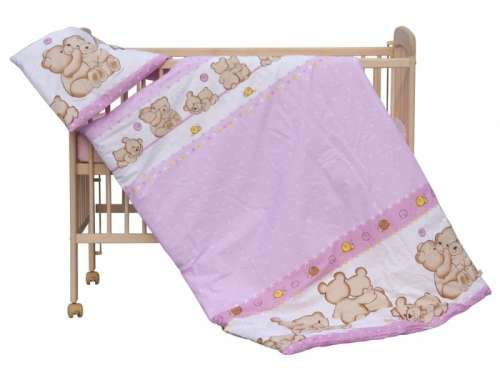 Ágyneműhuzat 90x120cm - Ölelő macik #rózsaszín