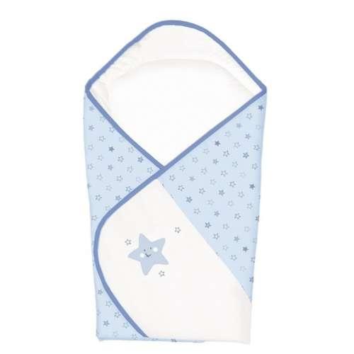 Ceba Baby kókuszpólya #kék csillagok (hímzett)