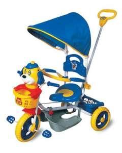 Szülőkormányos Tricikli - Kutya #kék-sárga  30310921